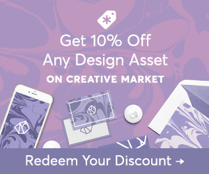 10% off Creative Market