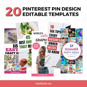 20 Pinterest Pin Design Editable Templates