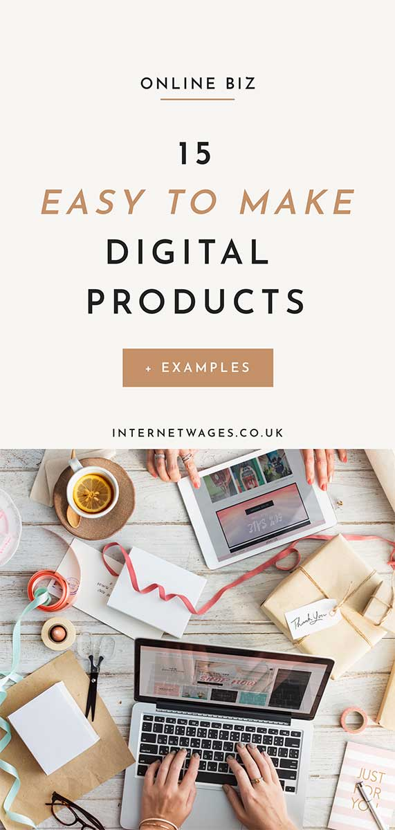 15 Easy To Make Digital Products and Examples.