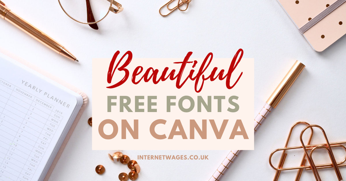 Beautiful Free Fonts on Canva for Creative Entrepreneurs Graphic.