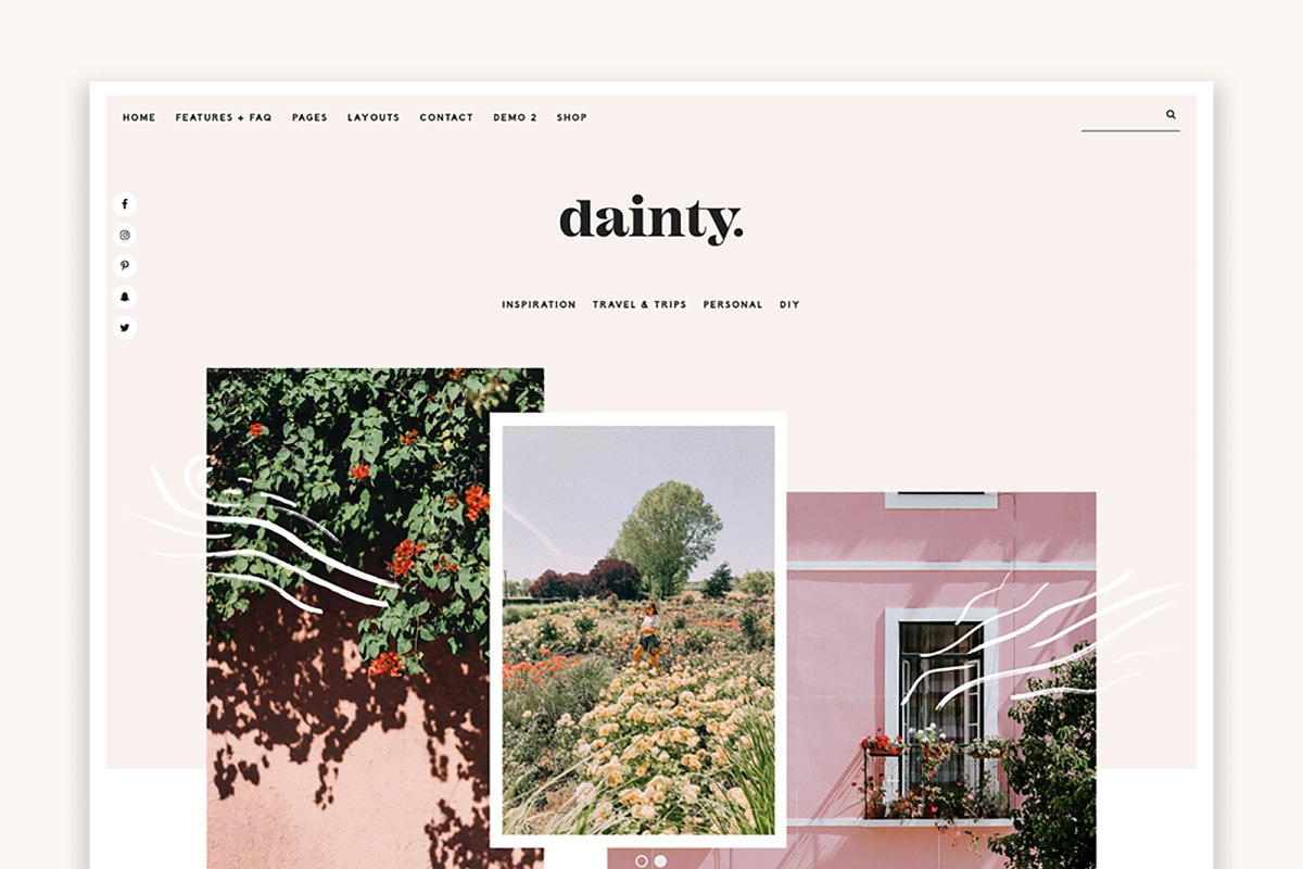 Dainty Hearten Made WordPress Theme.