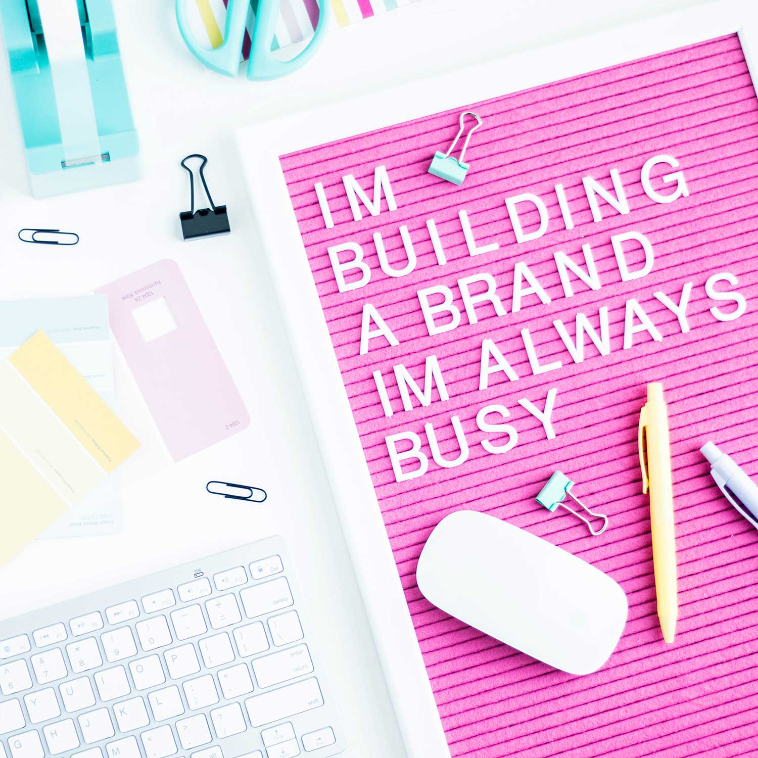 I'm building a brand I'm always busy quote letterboard